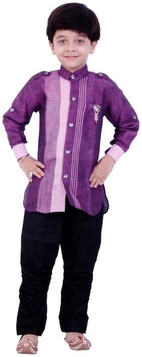 Arshia Fashion Baby boy Cotton Solid Kurta pyjama set - Multi