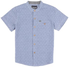 CHEROKEE Boy Cotton Solid Shirt Blue