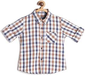 Yusha Boy Cotton Checked Shirt Multi