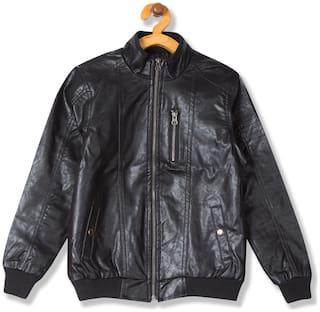 CHEROKEE Boy Synthetic Solid Winter jacket - Black