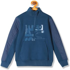 Flying Machine Boy Cotton Printed Sweatshirt - Blue