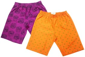 Boys' Regular Fit Printed Cotton Shorts