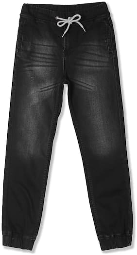 Boys Slim Fit Rinsed Jogger Jeans