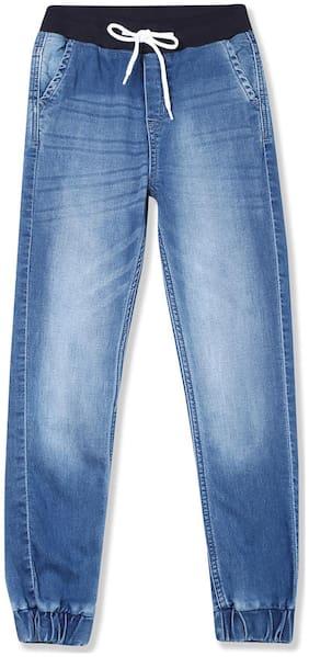 Boys Slim Fit Stone Wash Jogger Jeans