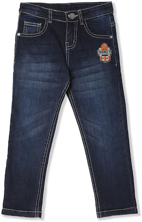 Boys Slim Fit Stone Wash Jeans
