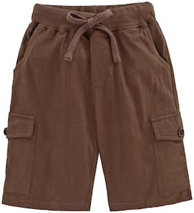 KiddoPanti Boy Solid Shorts & 3/4ths - Brown
