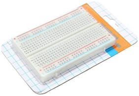 Breadboard-400 Mini Breadboard 400 Points Solderless Breadboard for Prototyping and Circuit Test Board.