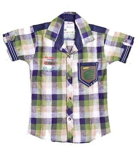 British Terminal Green Checkered Kids Shirt (2-3 Years)