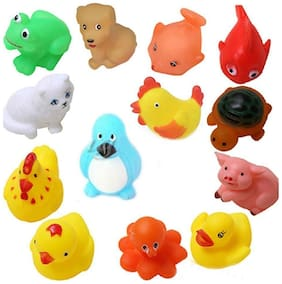 Brown Leaf Non Toxic Soft Toys Kids New Born Baby 12 Sounding Baby Bath Toys Best Gift For New Born Baby