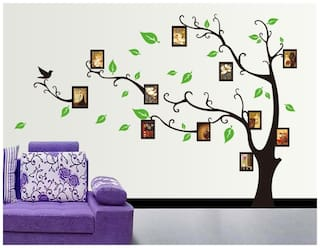 Brown Tree With Photo Frames PVC Vinyl Large Wall Sticker