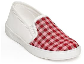 Bruno Manetti Red Girls Casual Shoes