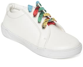 Bruno Manetti White Casual Shoes For Girls