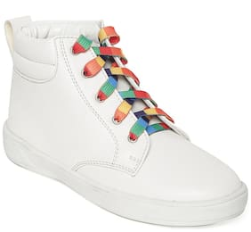 Bruno Manetti White Girls Casual Shoes