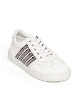Bruno Manetti Boys&Girls Kids White Faux Leather Sneakers