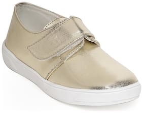 Bruno Manetti Gold Casual Shoes For Girls