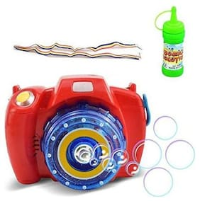 Bubble Camera Gun With Light & Sound Toy For Your Growing Child (Red)