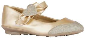 Bata Gold Ballerinas For Girls