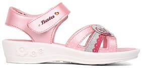 Bata Pink Girls Sandals