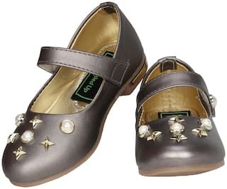 Buckled UP Grey Girls Casual Shoes