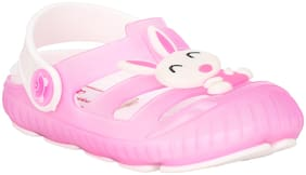 Buckled Up Pink Bunny Clogs.