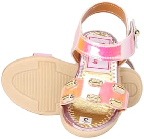 Buckled UP Pink Sandals For Infants
