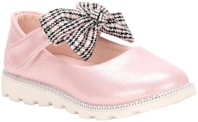 Buckled UP Pink Ballerinas For Girls