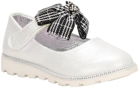 Buckled UP Silver Ballerinas For Girls
