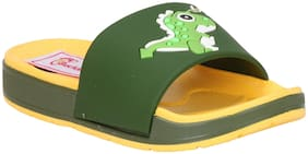 Buckled Up Yellow and green dinosaur slipper