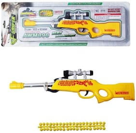 BULLET GUN TOY RIFLE WITH SOFT RUBBER BULLETS
