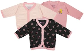 BUMZEE Knitted Printed T shirt for Unisex Infants - Pink
