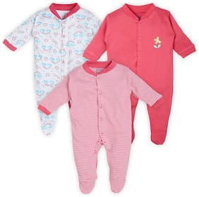 BUMZEE Unisex Cotton Printed Sleep suit - Multi