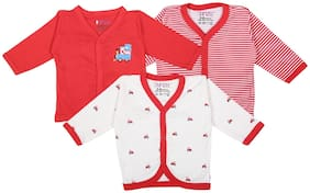 BUMZEE Knitted Printed T shirt for Unisex Infants - Red