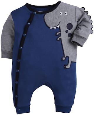 BUMZEE Unisex Knitted Embellished Romper - Blue