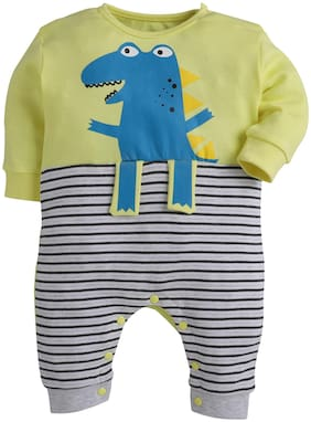 BUMZEE Unisex Knitted Printed Romper - Yellow