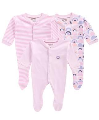 BUMZEE Unisex Knitted Printed Sleep suit - Pink