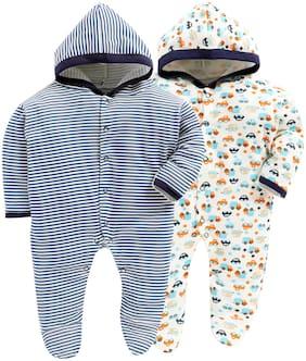 BUMZEE Unisex Knitted Printed Sleep suit - Multi