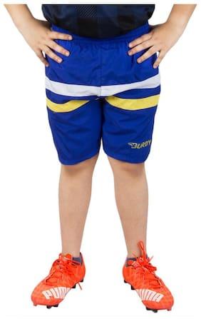BURDY Solid Boy's Blue Sports Shorts