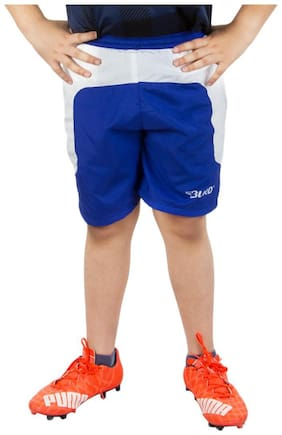 BURDY Solid Boy's Blue Sports Shorts