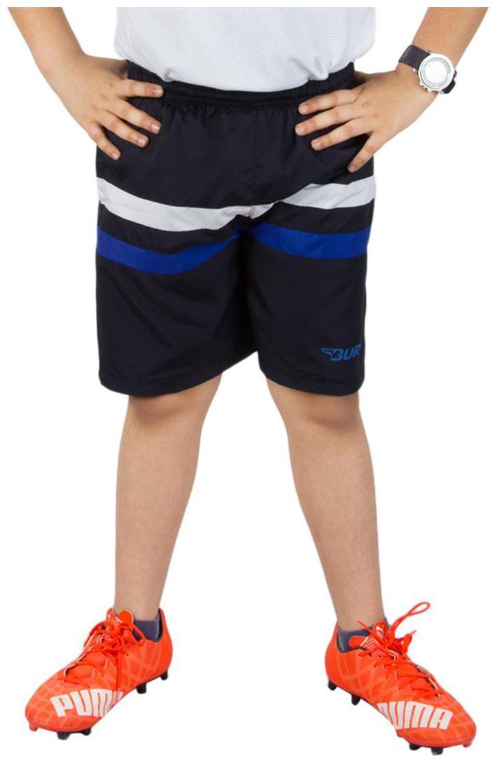 BURDY Striped Boy's Dark Blue Sports Shorts
