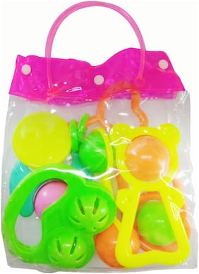 Butterthief 6 Piece Baby Musical Rattle Playset Rattle