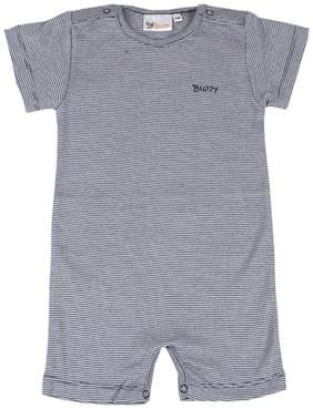 Buzzy Baby boy Cotton Striped Romper - Blue