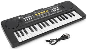 CADDLE & TOES Piano Musical Instrument for kids (Black)
