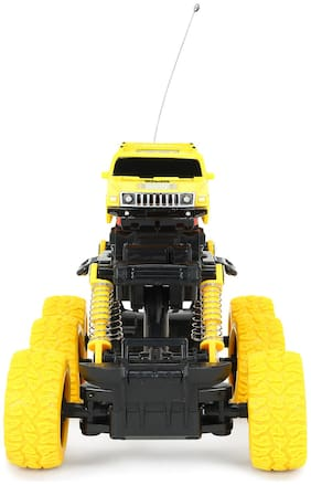 CADDLE & TOES Monster Sports Car 6 Tyres /Crawler with Remote Multi Channel with Power Remote/Multi Terrain Ride/Extra gripped Tyres
