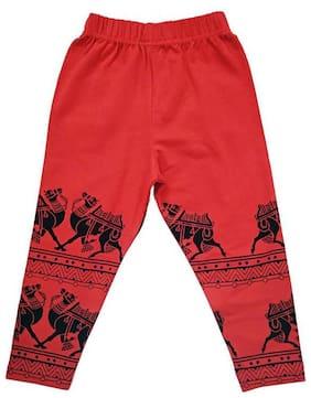 Red 3/4th Length Leggings
