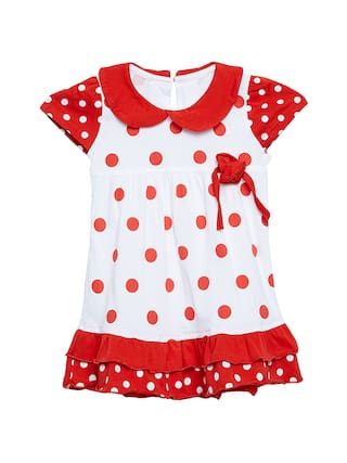 73630e9c3 Buy Camey Baby Girl Cotton Printed Collar Frock - Red Online at Low ...
