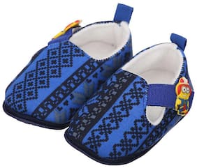 Camey Blue Booties For Infants