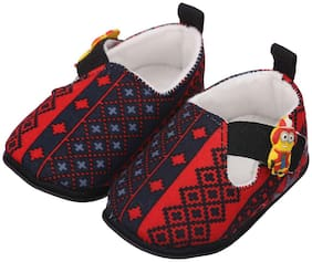 Camey Red Booties For Infants