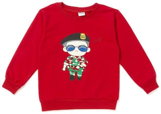 Camey Cotton Printed T shirt for Baby Boy - Red