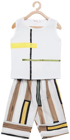 Camey Girl Polyester Top & Bottom Set - Multi