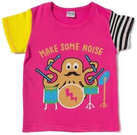 Camey Boy Cotton Printed T-shirt - Pink